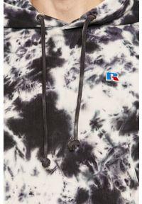 Niebieska bluza nierozpinana Russell Athletic z kapturem, na co dzień, casualowa