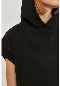 Czarna bluza Answear Lab wakacyjna, krótka, z kapturem