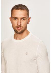 Marc O'Polo - T-shirt. Okazja: na co dzień. Typ kołnierza: polo. Kolor: biały. Materiał: dzianina, materiał. Wzór: gładki. Styl: casual