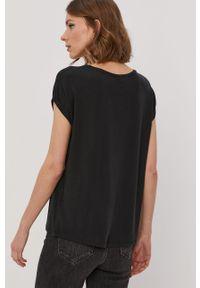 Czarna bluzka Vero Moda na co dzień, casualowa