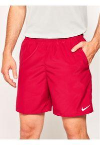 Czerwone spodenki sportowe Nike do biegania