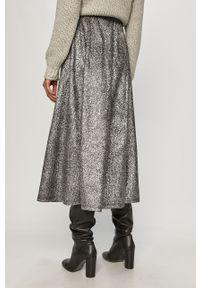 Srebrna spódnica only z podwyższonym stanem, na co dzień, casualowa