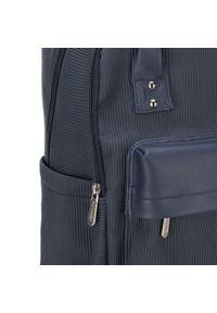 """Wittchen - Męski plecak z kieszenią na laptopa 15,6"""" metaliczny. Kolor: niebieski. Materiał: nylon. Wzór: paski #4"""