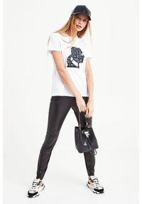 Karl Lagerfeld - T-SHIRT KARL LAGERFELD. Okazja: na co dzień. Materiał: materiał. Styl: casual