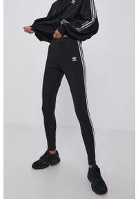 adidas Originals - Legginsy. Kolor: czarny. Materiał: bawełna, dzianina