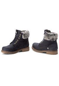 Niebieskie buty trekkingowe Wrangler z cholewką