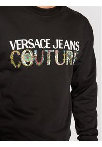 Versace Jeans Couture Bluza 71GAIF02 Czarny Regular Fit. Kolor: czarny