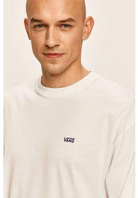Biała koszulka z długim rękawem Vans na co dzień, z okrągłym kołnierzem, casualowa