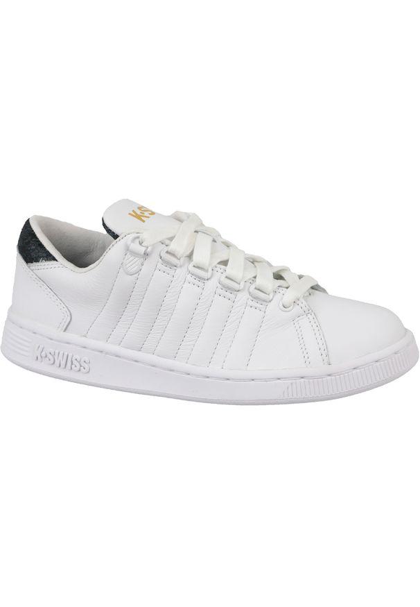 Białe sneakersy K-Swiss z cholewką, w kolorowe wzory
