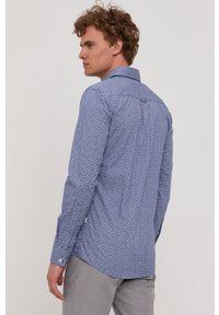 BOSS - Boss - Koszula Boss Casual. Okazja: na co dzień. Typ kołnierza: button down. Kolor: niebieski. Materiał: tkanina. Długość rękawa: długi rękaw. Długość: długie. Styl: casual