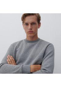 Reserved - Gładka bluza - Jasny szary. Kolor: szary. Wzór: gładki
