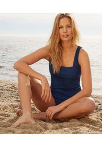 Niebieski strój kąpielowy jednoczęściowy Etam