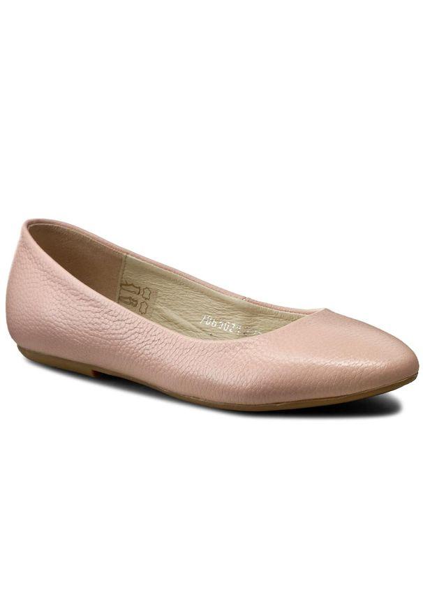 Różowe baleriny Baldaccini klasyczne, z cholewką