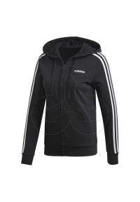 Czarna bluza Adidas z kapturem, casualowa