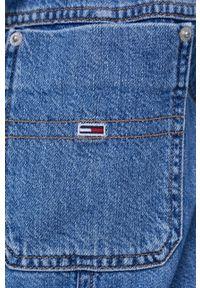 Tommy Jeans - Kombinezon jeansowy. Okazja: na co dzień. Kolor: niebieski. Materiał: tkanina. Długość rękawa: długi rękaw. Długość: długie. Wzór: gładki. Styl: casual