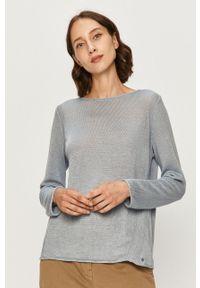 Niebieski sweter Marc O'Polo długi, z długim rękawem