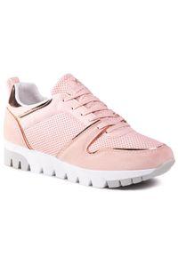 Xti - Sneakersy XTI - 44081 Nude. Okazja: na co dzień, na spacer. Kolor: różowy. Materiał: skóra ekologiczna, materiał. Szerokość cholewki: normalna. Sezon: lato. Styl: casual, sportowy