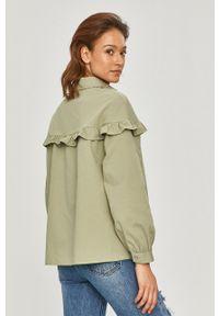 Zielona koszula Answear Lab gładkie, z klasycznym kołnierzykiem, długa, wakacyjna