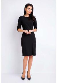 Czarna sukienka wizytowa Awama ołówkowa, wizytowa