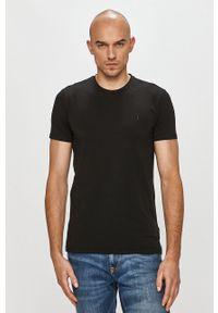 Czarny t-shirt Trussardi Jeans klasyczny