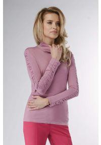 Różowy sweter Nommo elegancki, z golfem