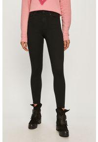 Czarne jeansy Cross Jeans z podwyższonym stanem