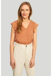 Greenpoint - Elegancka bluzka z nadrukiem. Wzór: nadruk. Styl: elegancki