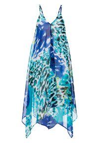 Sukienka plażowa bonprix niebieski. Okazja: na plażę. Kolor: niebieski