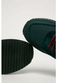 Zielone sneakersy Big-Star z okrągłym noskiem, na sznurówki
