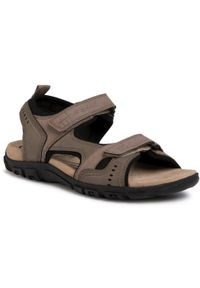 Brązowe sandały Geox klasyczne, na lato