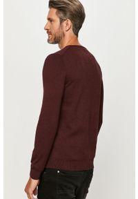 Brązowy sweter s.Oliver z długim rękawem, casualowy, z okrągłym kołnierzem, długi