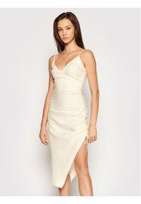 Beżowa sukienka letnia NA-KD