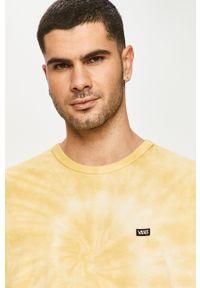 Żółta koszulka z długim rękawem Vans casualowa, na co dzień