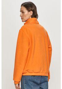 Pomarańczowa bluza rozpinana Local Heroes z aplikacjami, bez kaptura
