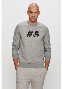 Szara bluza nierozpinana Karl Lagerfeld na co dzień, z nadrukiem