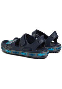 Niebieskie sandały Crocs z aplikacjami, klasyczne
