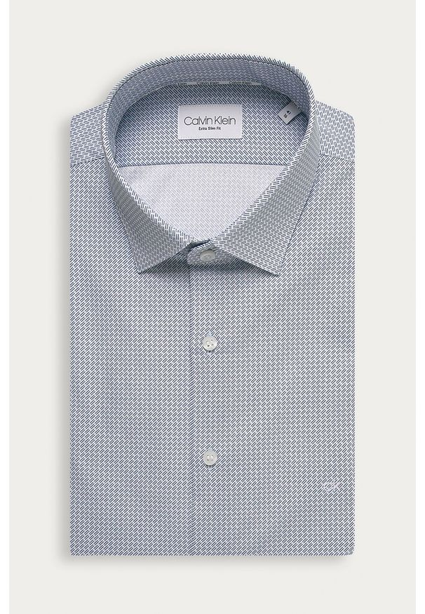 Niebieska koszula Calvin Klein długa, elegancka