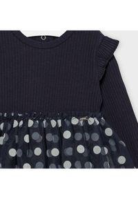 Mayoral Sukienka codzienna 2964 Granatowy Regular Fit. Okazja: na co dzień. Kolor: niebieski. Typ sukienki: proste. Styl: casual