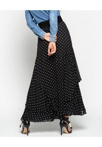 Pinko - PINKO - Spódnica maxi Polka Dot. Kolor: czarny. Długość: długie. Wzór: grochy. Styl: elegancki