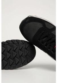 Czarne buty sportowe Big-Star na sznurówki, z okrągłym noskiem