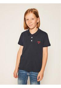 Niebieski t-shirt polo Guess polo