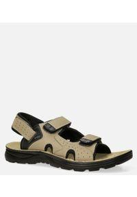 Beżowe sandały Casu na rzepy