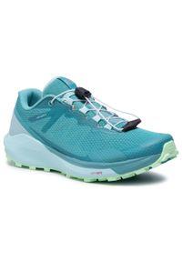Zielone buty do biegania salomon