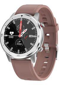 Brązowy zegarek Garett Electronics smartwatch