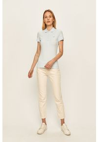 Niebieska bluzka Lacoste na co dzień, krótka