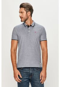 Niebieska koszulka polo PRODUKT by Jack & Jones melanż, polo, casualowa