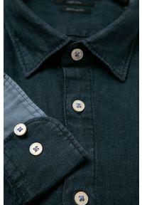 Niebieska koszula Marc O'Polo długa, z klasycznym kołnierzykiem