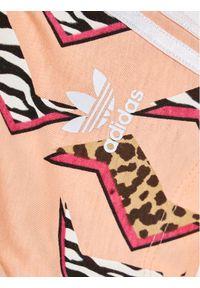T-shirt Adidas sportowy, w kolorowe wzory