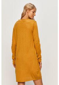 Żółta sukienka Jacqueline de Yong na co dzień, prosta, mini, casualowa