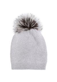 Szara czapka William Sharp na zimę